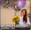 Melissia Donates Her Birthday